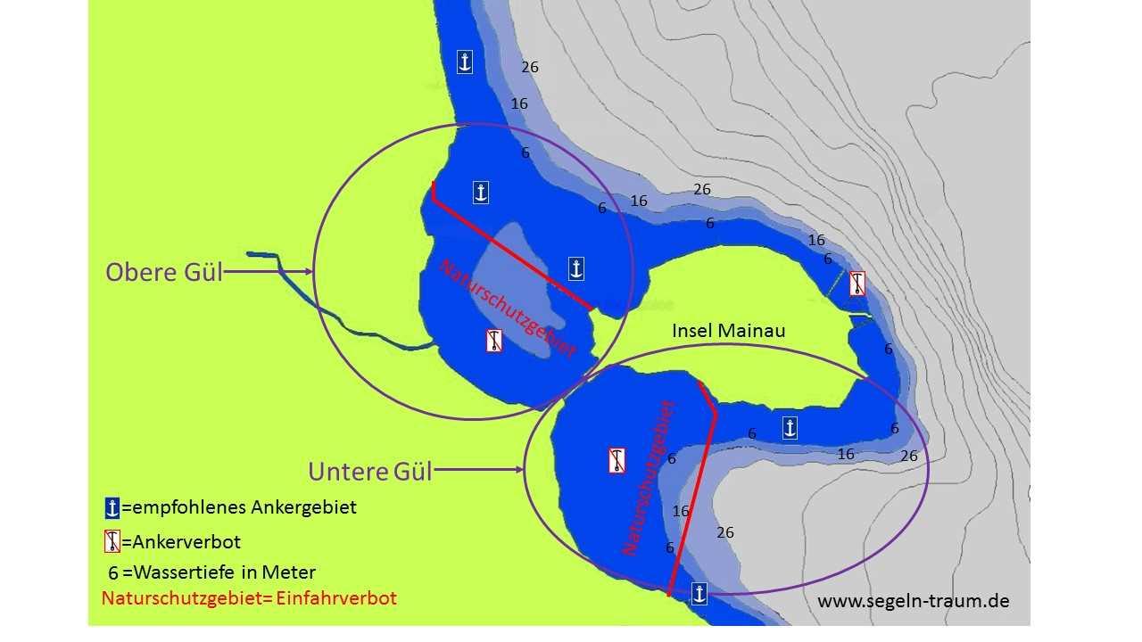 Seekarte Gül Ankern Bodensee